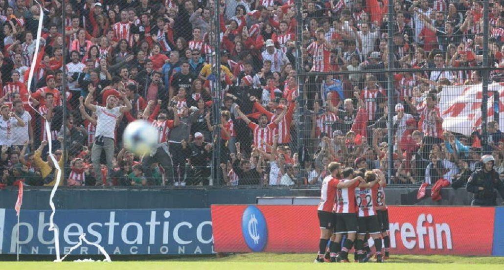 El volante convirtió el único tanto en el triunfo ante Gimnasia en Quilmes