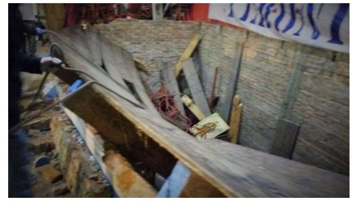 Así quedó el escenario que se derrumbó en Lomas de Zamora