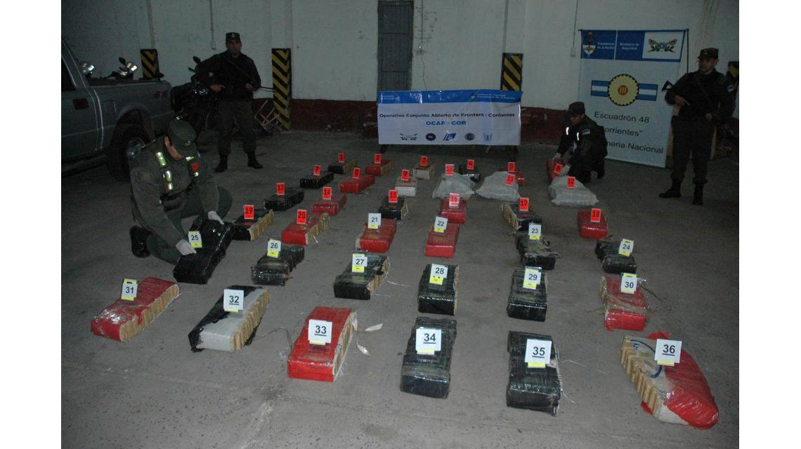 Incautaron más de 400 kilos de marihuana en Itatí