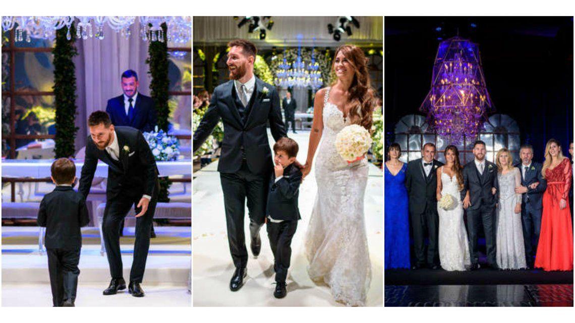 El álbum oficial de la boda de Messi