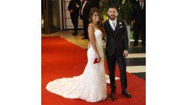 Antonela y Messi, minutos después de casarse