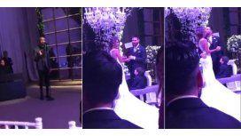 Abel Pintos cantó durante el sí en el casamiento de Messi y Antonella