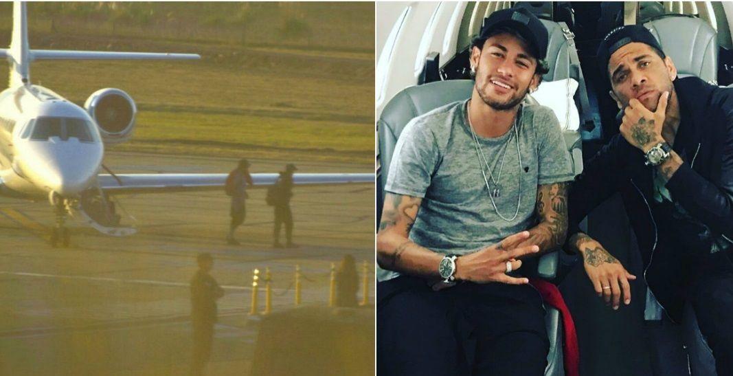 Neymar y Dani Alves llegaron sobre la hora al casamiento de Messi y Antonella