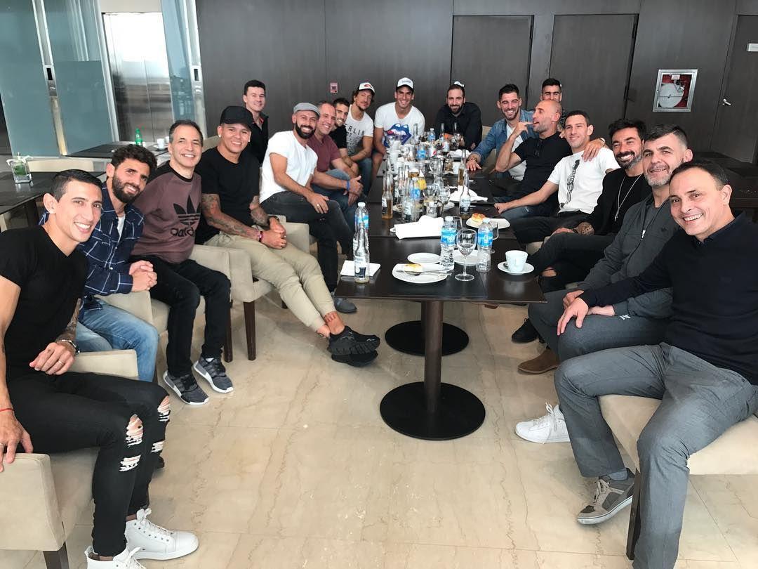 Los jugadores argentinos en la previa al casamiento de Messi y Antonella