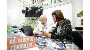 Alberto Cormillot y Gisela Zamora