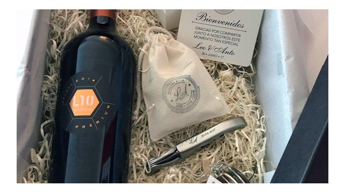 El vino que regalarán Messi en su casamiento