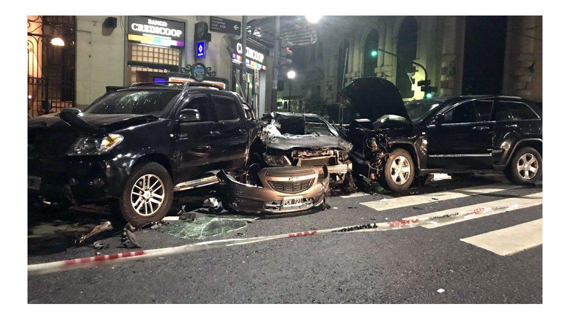 Cuatro autos involucrados en un choque en Abasto