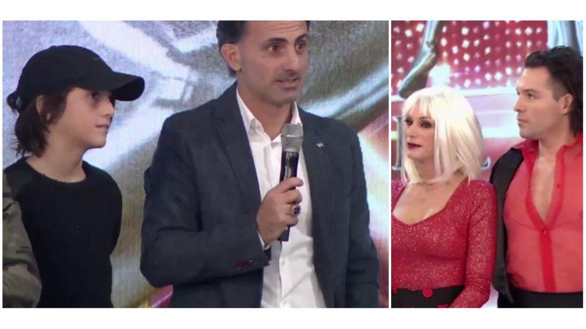 Diego Latorre fue a ShowMatch para apoyar a su mujer