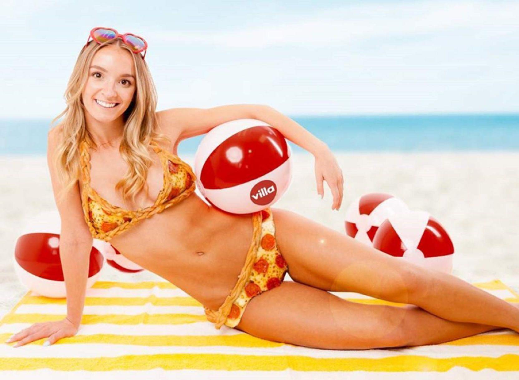 Inventaron un bikini de pizza que cuesta 10.000 dólares