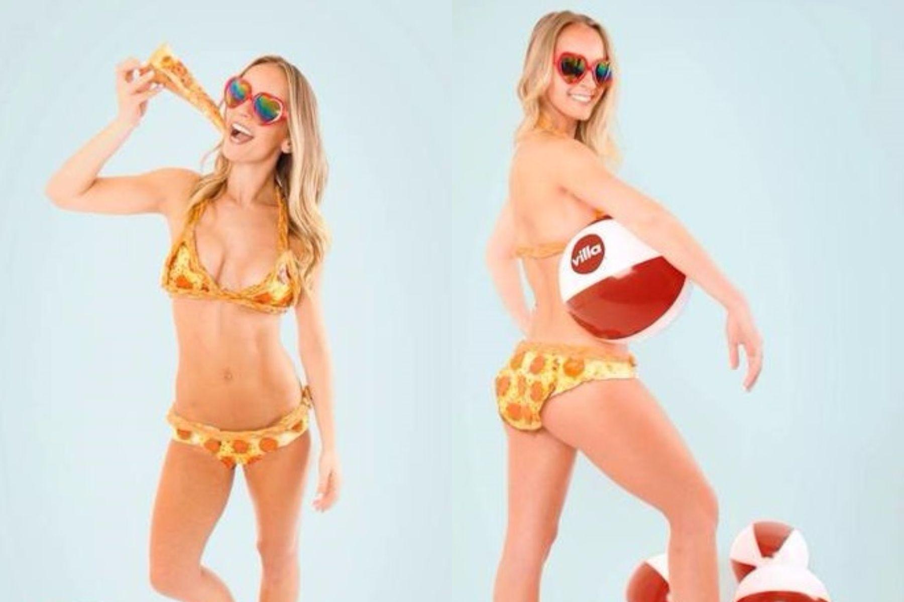 Inventaron un bikini hecho de pizza que cuesta 10.000 dólares