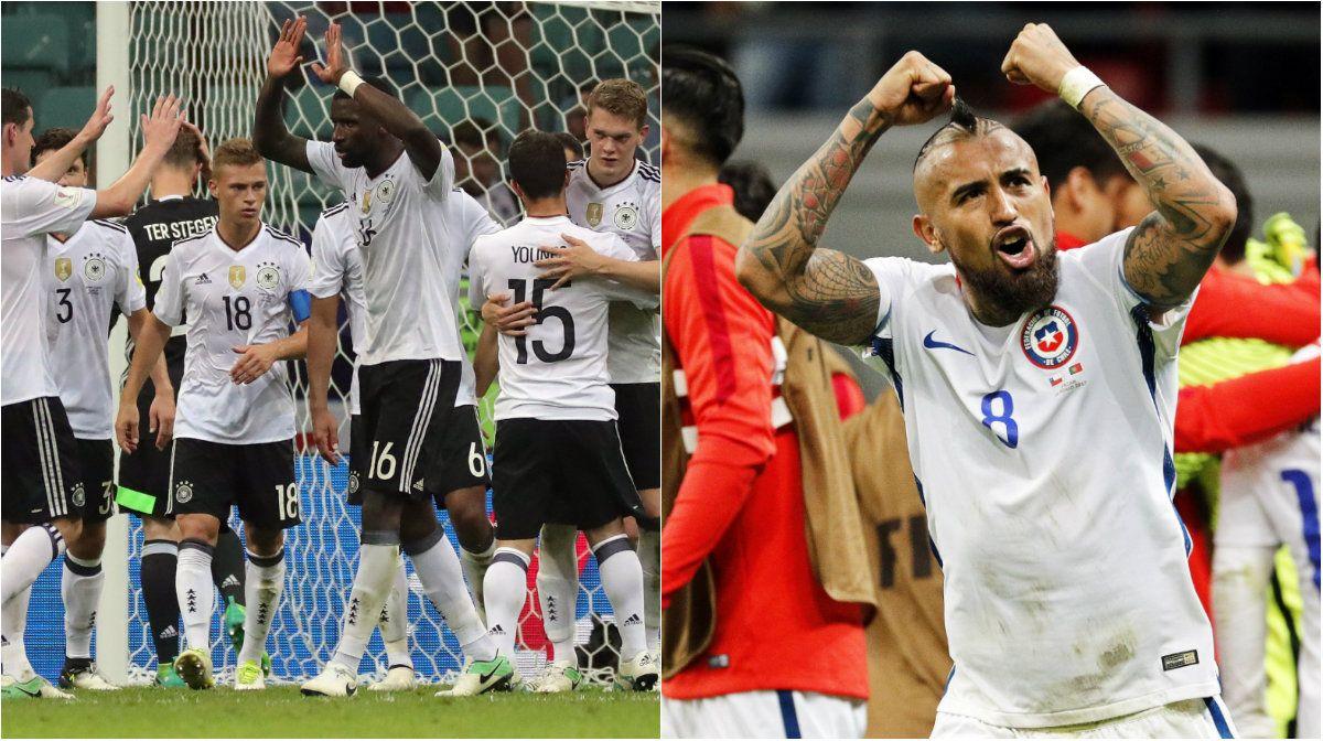 Alemania y Chile se batirán a duelo en la final de la Copa Confederaciones