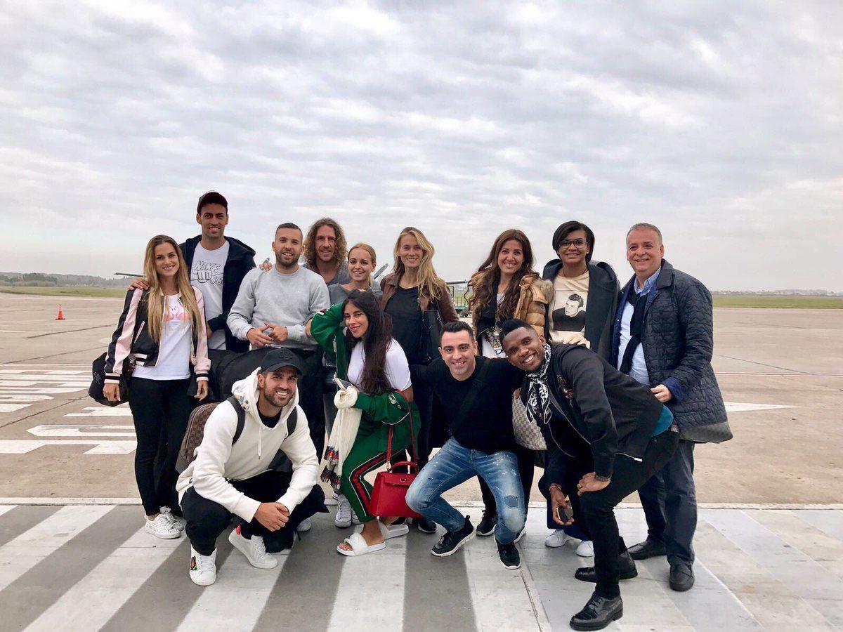 Los jugadores del Barcelona y sus esposas