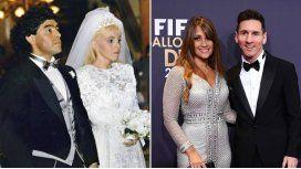Las semejanzas y diferencias entre el casamiento de Maradona y Messi
