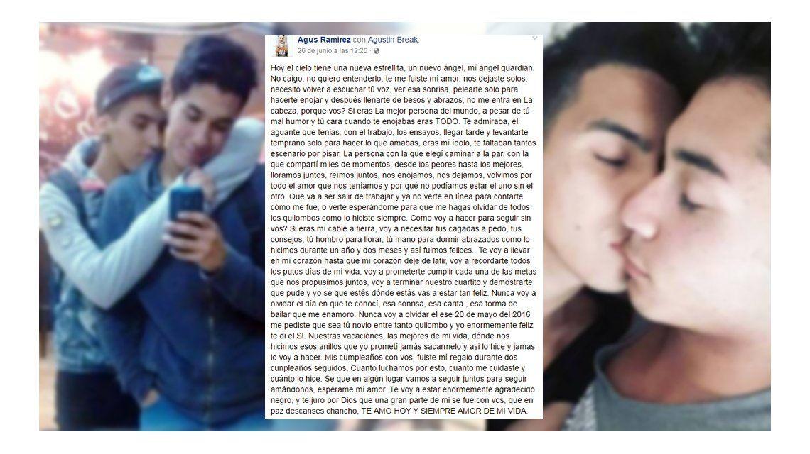 Tragedia en Mendoza: la carta de un joven a su novio fallecido ...