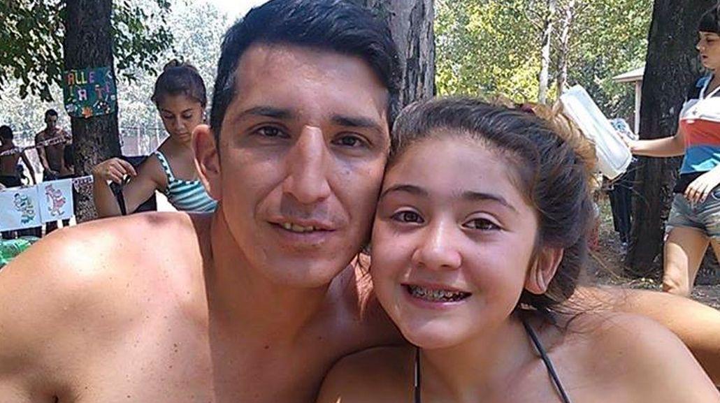 Valentina Arias con su papá Jorge Zapata