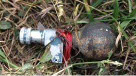 Hallaron dos granadas en Panamericana