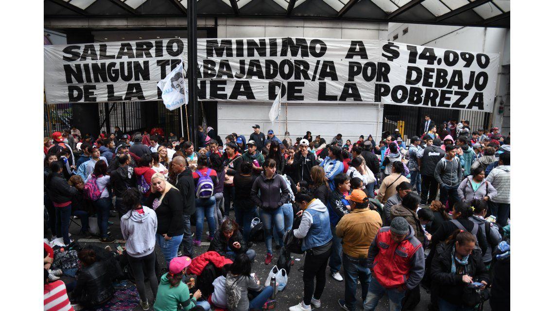 Caos en el centro porteño por la protesta de movimientos sociales