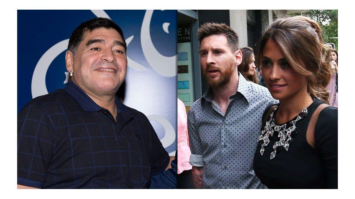 Diego Maradona no está invitado al casamiento de Messi y Antonella Roccuzzo
