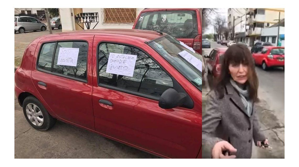 VIDEO: Le taparon la salida del garage, la escrachó y filmó la insólita pelea