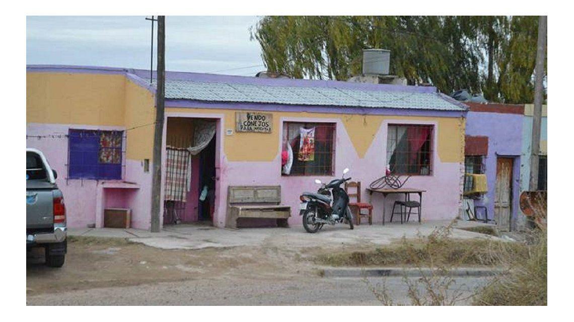 En esta casa de Bahía Blanca se produjo el abuso