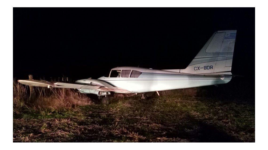Derribaron una avioneta que transportaba droga en San Antonio de Areco