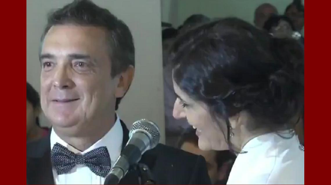 Se casaron Nito Artaza y Cecilia Milone