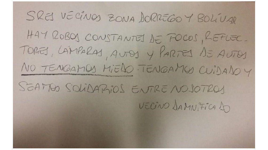 El mensaje de un vecino en Mar del Plata ante robos