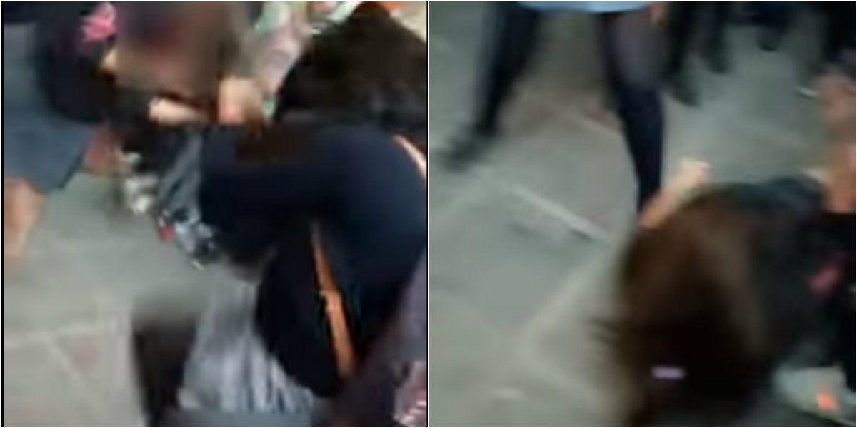 Dos alumnas fueron filmadas peleándose