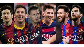 Messi, con el paso de los años en el Barcelona