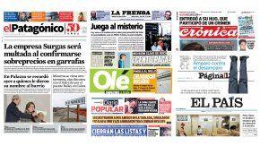 Tapas de diarios del sábado 24 de junio de 2017