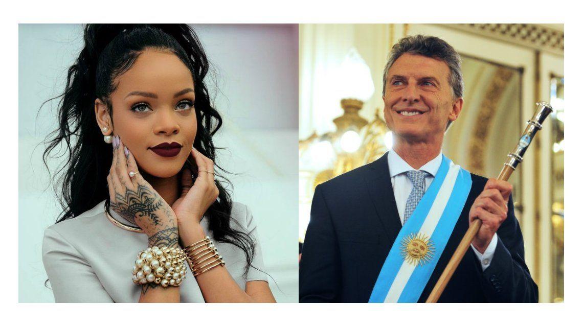 Rihanna le preguntó a Macri sobre sus planes para fomentar la educación