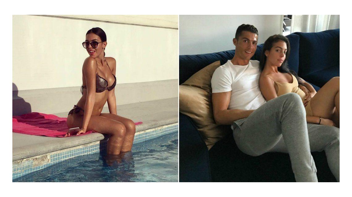 La novia de Cristiano Ronaldo debutó como modelo.