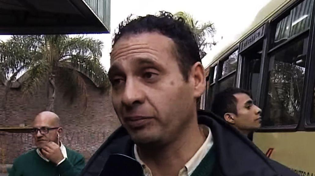Hugo es el chofer que sufrió un asalto en su colectivo este viernes a la mañana