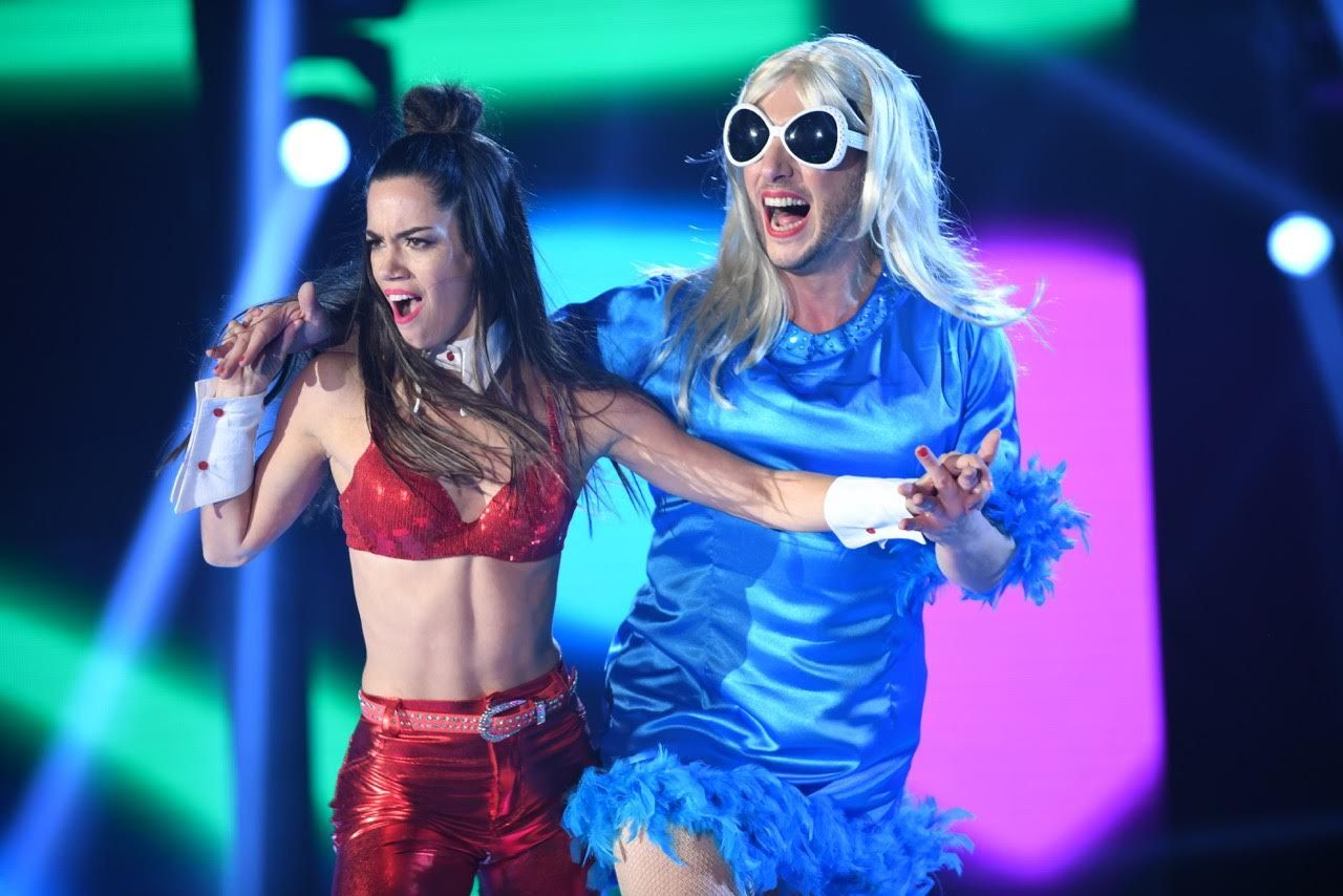 Jey Mammon en la cumbia pop del Bailando 2017
