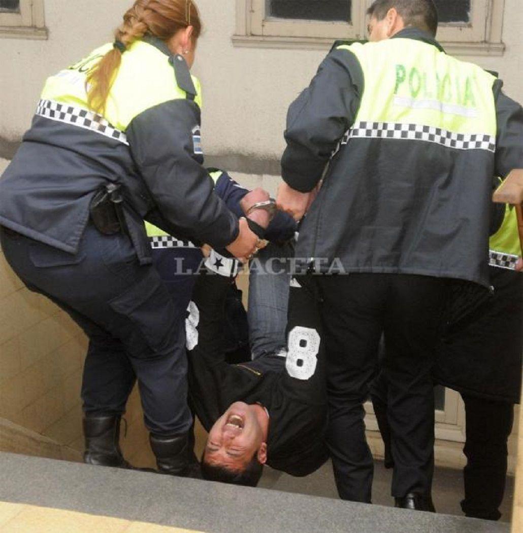 Así redujeron a uno de los Cabrera en los Tribunales de Tucumán