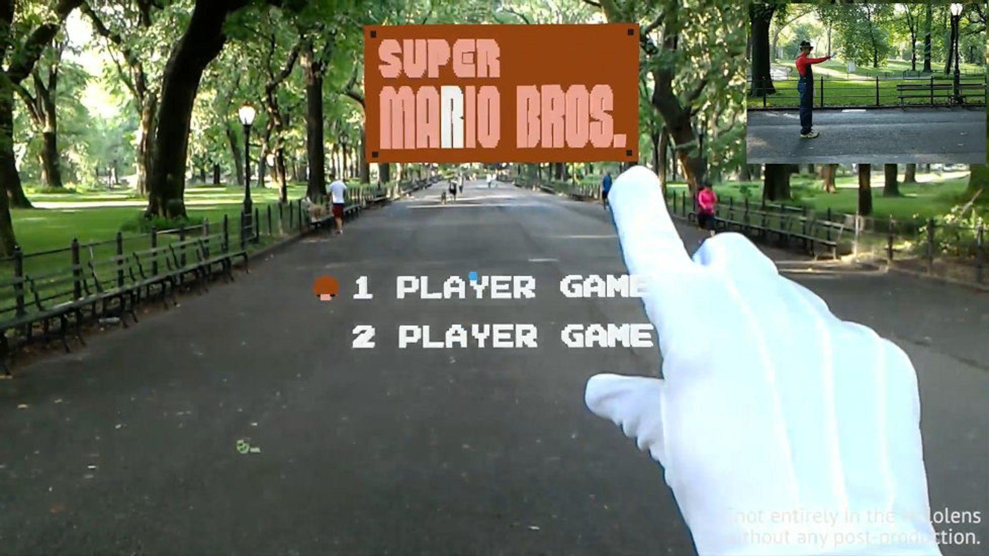 uper Mario Bros en realidad aumentada