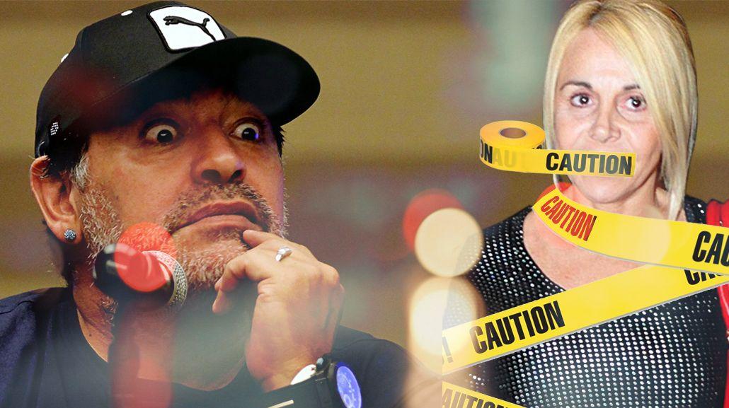 Maradona quiere callar a Claudia Villafañe con un bozal legal