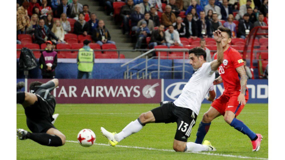 Chile empató con Alemania por la Copa Confederaciones