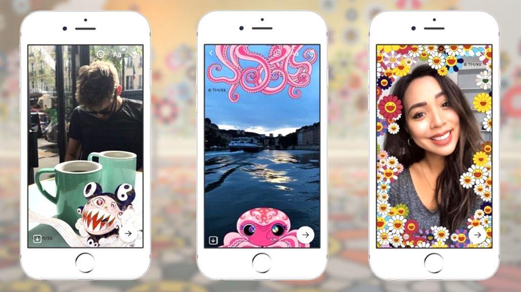El artista Takeshi Murakami llega a los filtros Facebook Messenger