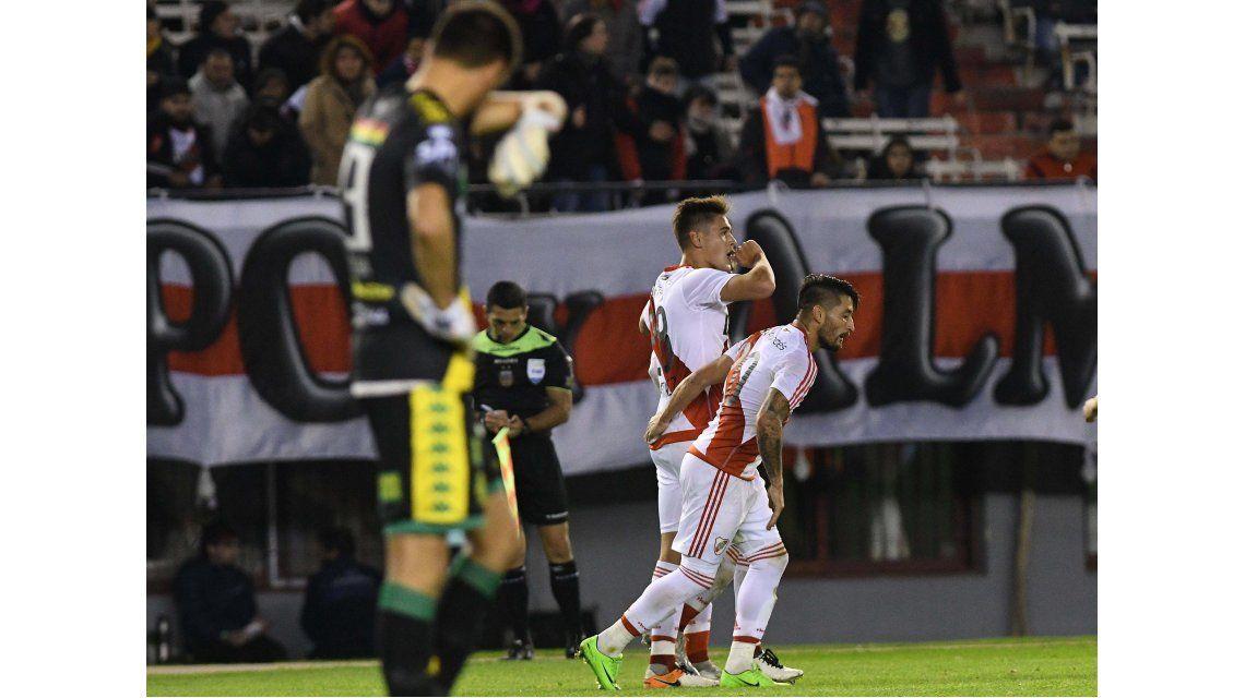 El juvenil anotó el único gol en el triunfo de River