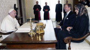Reunión del Papa con los reyes de Holanda