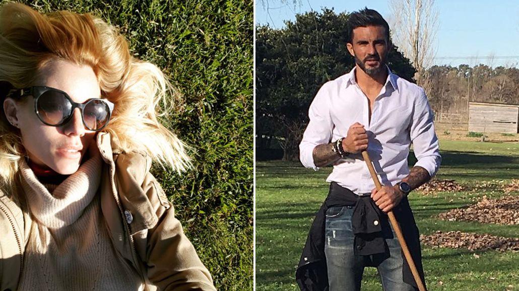 Nicole y Cubero en su día de campo familiar