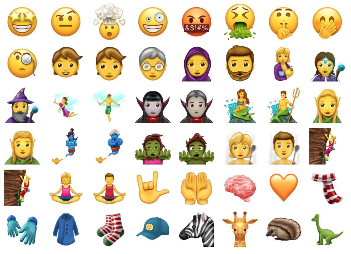 Mirá los 56 nuevos emojis
