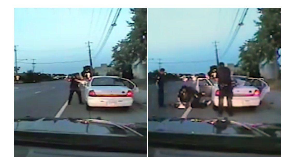El fuerte video donde un policía ejecuta a un afroamericano