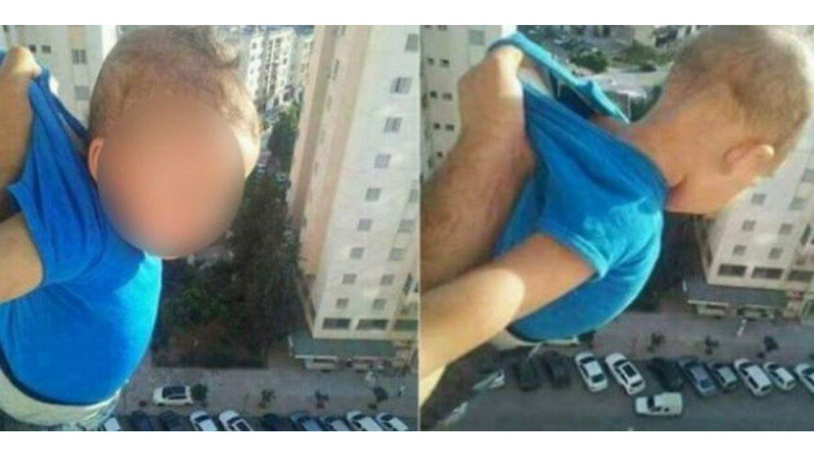 Amenazó con arrojar un bebé al vacío si no obtenía mil me gusta
