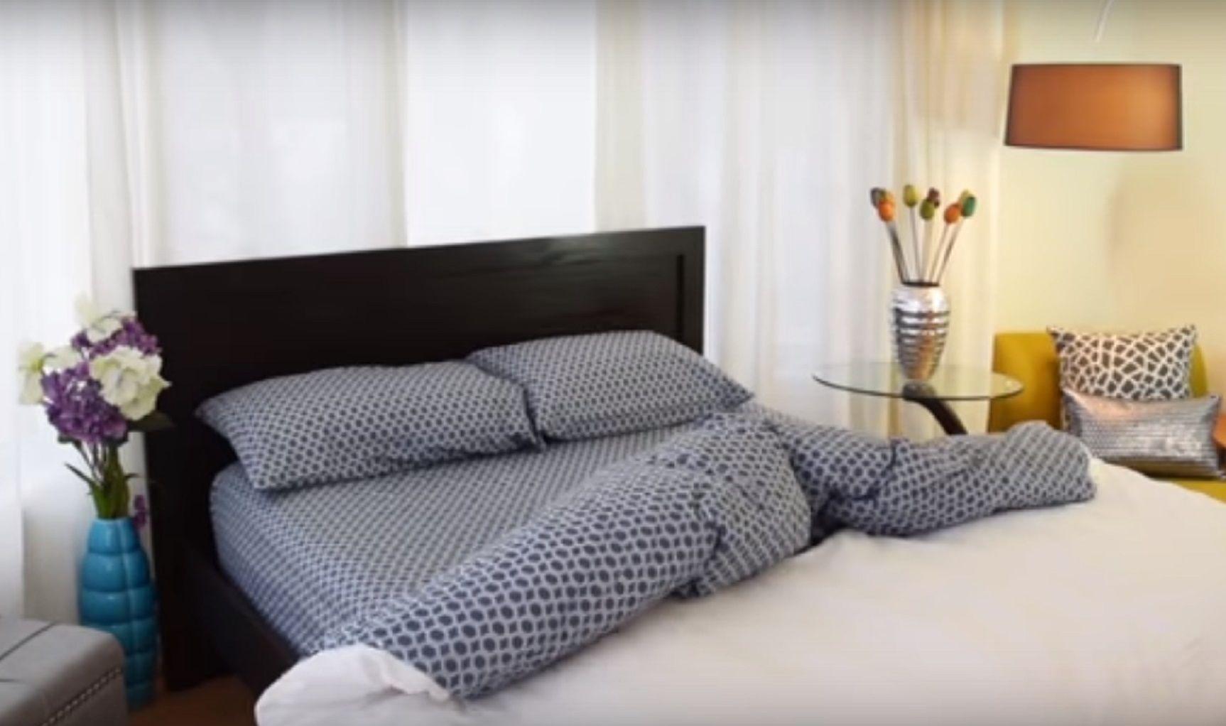 Inventaron un acolchado que calienta y hace la cama