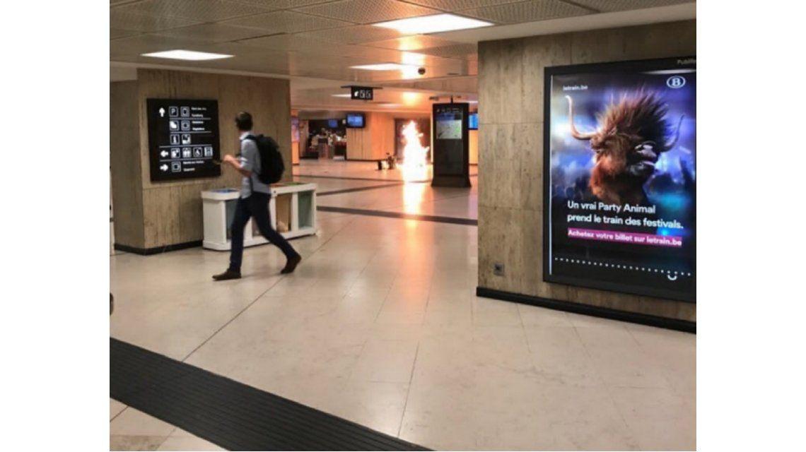 Un terrorista fue abatido en la estación de trenes de Bruselas