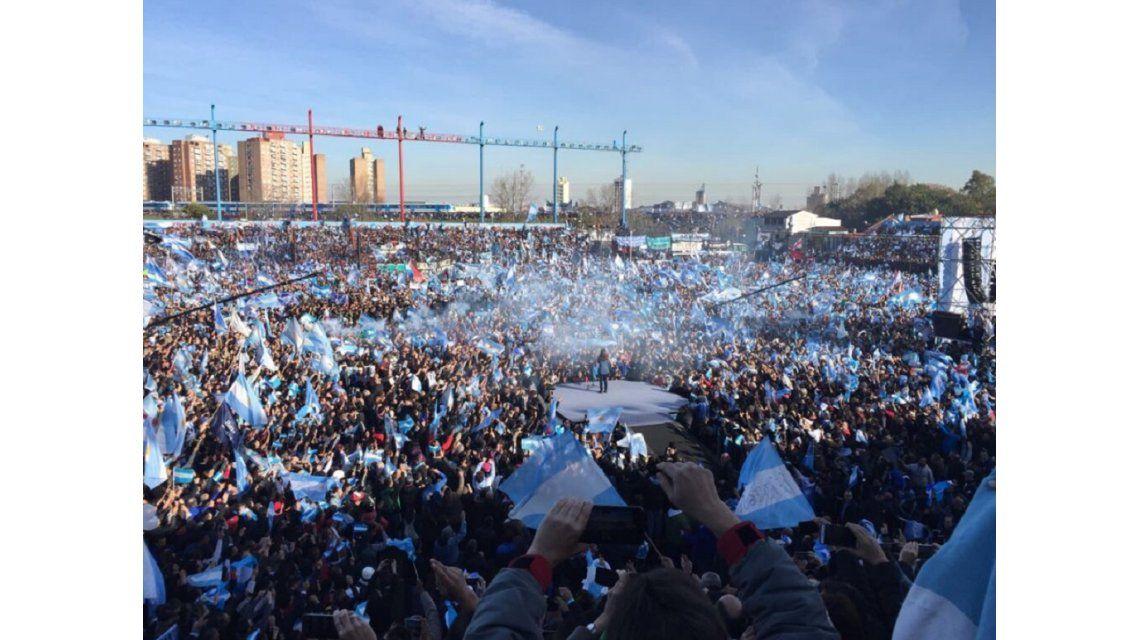 Cristina Kirchner lanzó su partido Unidad Ciudadana ante una multitud