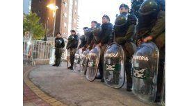 La Gendarmería, apostada en el lugar. Gentileza: diario La Capital
