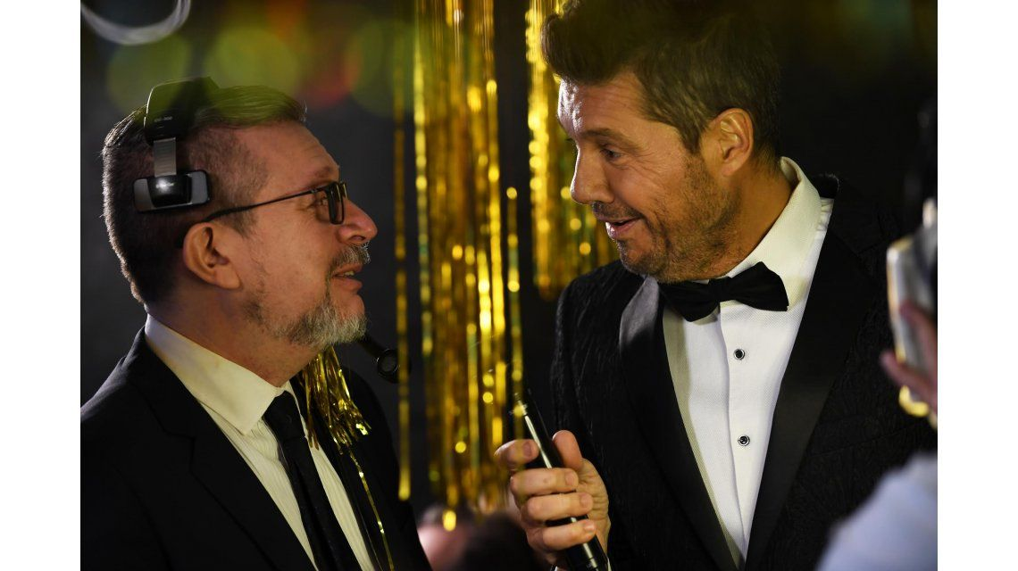 Marcelo Tinelli con Alejandro Ripoll